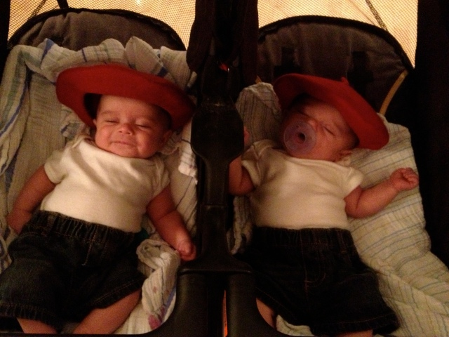 Alicia and Dustin's twinsies
